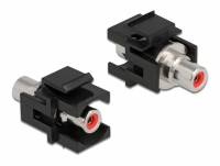 Delock Keystone Module RCA female > RCA female red / black