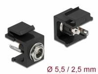 Delock Keystone Module DC 5.5 x 2.5 mm female black