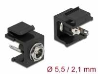 Delock Keystone Module DC 5.5 x 2.1 mm female black