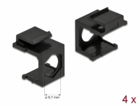 Delock Keystone cover black with 9.7 mm hole 4 pieces