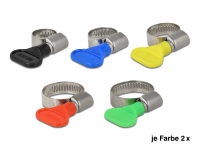 Delock Butterfly Hose Clamp Set 10 pieces assorted colours