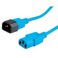 ROLINE Monitor Power Cable, IEC 320 C14 - C13, blue, 3 m