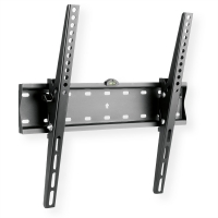 VALUE TV wall mount, 27mm wall distance, 40kg load capacity, black, tiltable