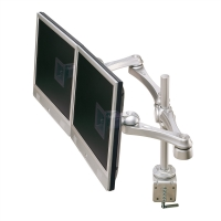 ROLINE Dual LCD Monitor Arm, Desk Clamp, 4 Joints