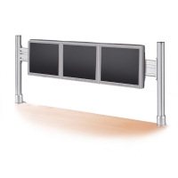 ROLINE LCD Bridge for 1x3 56 cm LCD Monitors, Desk Clamp