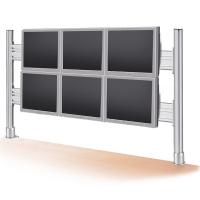 ROLINE LCD Bridge for 2x3 56 cm LCD Monitors, Desk Clamp