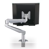 ROLINE LCD Monitor Stand Pneumatic, Desk Clamp, Pivot, 2 Joints