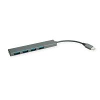 ROLINE USB 3.2 Gen 1 Hub, 4 Ports, Type C connection cable