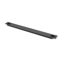 """Roline 19"""" Blank Panel, Snap-in, 1U, Metal, RAL 9005 black"""