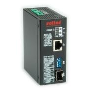 ROLINE Industrial Converter, 10/100/1000T - 100/1000 Fiber