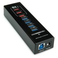 ROLINE USB 3.0 Hub, 4 Ports + 3x Charging Ports