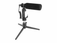 Delock Vlog Shotgun Microphone Set for Smartphones and DSLR Cameras