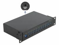 Delock 10″ Industry Hub 10 x USB 3.2 Gen 1 Type-A