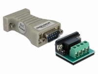 Delock Converter 1 x Serial RS-232 DB9 to 1 x Serial RS-485 with ESD protection 15 kV surge protection 600 W