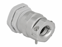 Delock Cable Gland PG21 with strain relief and bending protection grey