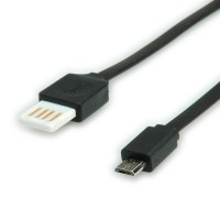 ROLINE USB 2.0 Cable, A reversible - Micro B, M/M 1m