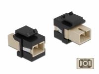 Delock Keystone Module SC Simplex female to SC Simplex female beige / black