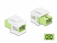 Delock Keystone Module SC Simplex female to SC Simplex female limegreen / white
