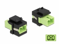 Delock Keystone Module SC Simplex female to SC Simplex female limegreen / black