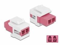 Delock Keystone Module LC Duplex female to LC Duplex female violet / white