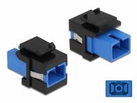 Delock Keystone Module SC Simplex female to SC Simplex female blue / black