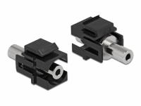 Delock Keystone Module stereo jack female 3.5 mm 3 pin to stereo jack female 3.5 mm 3 pin black