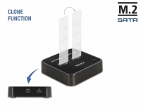 Delock M.2 Docking Station for 2 x M.2 SATA SSD with Clone function