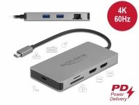 Delock USB Type-C™ Docking Station 4K - Dual HDMI MST / USB 3.2 / SD / LAN / PD 3.0