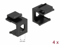 Delock Keystone cover black with 8.0 mm hole 4 pieces
