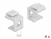 Delock Keystone cover white with 8.0 mm hole 4 pieces