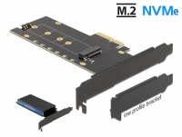 Delock PCI Express x4 Card to 1 x internal NVMe M.2 Key M with heat sink and LED illumination - Low Profile Form Factor