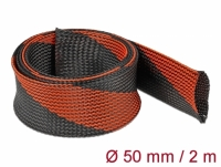 Delock Braided Sleeve stretchable 2 m x 50 mm black-red