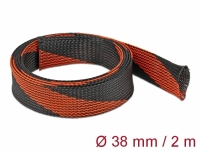 Delock Braided Sleeve stretchable 2 m x 38 mm black-red