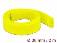 Delock Braided Sleeve stretchable 2 m x 38 mm yellow