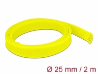 Delock Braided Sleeve stretchable 2 m x 25 mm yellow