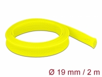 Delock Braided Sleeve stretchable 2 m x 19 mm yellow