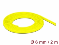 Delock Braided Sleeve stretchable 2 m x 6 mm yellow