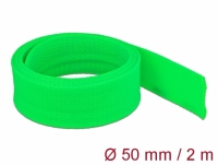 Delock Braided Sleeve stretchable 2 m x 50 mm green