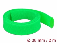 Delock Braided Sleeve stretchable 2 m x 38 mm green