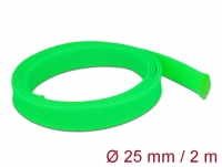 Delock Braided Sleeve stretchable 2 m x 25 mm green