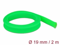 Delock Braided Sleeve stretchable 2 m x 19 mm green