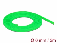 Delock Braided Sleeve stretchable 2 m x 6 mm green