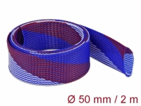 Delock Braided Sleeve stretchable 2 m x 50 mm blue-red-white