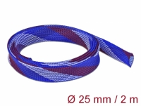 Delock Braided Sleeve stretchable 2 m x 25 mm blue-red-white