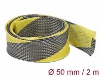 Delock Braided Sleeve stretchable 2 m x 50 mm black-yellow
