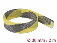 Delock Braided Sleeve stretchable 2 m x 38 mm black-yellow