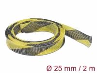 Delock Braided Sleeve stretchable 2 m x 25 mm black-yellow