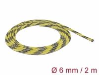 Delock Braided Sleeve stretchable 2 m x 6 mm black-yellow