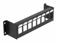 Delock Keystone Mounting Panel 8 Port surface mount