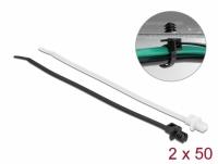 Delock Cable tie with lamella base L 200 x W 4.8 mm 100 pieces